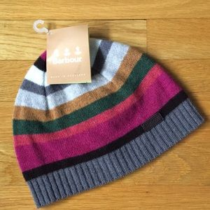 Colorful Barbour Briggs Striped Beanie NWT